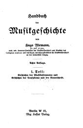 Handbuch der Musikgeschichte: Bände 1-2