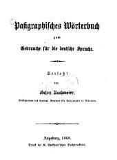 Pasigraphisches Wörterbuch zum Gebrauche für die deutsche Sprache