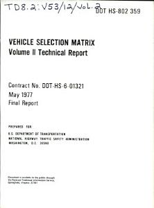Vehicle Selection Matrix PDF