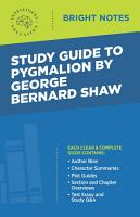 Study Guide to Pygmalion by George Bernard Shaw PDF