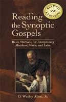 Reading the Synoptic Gospels  Revised and Expanded  PDF