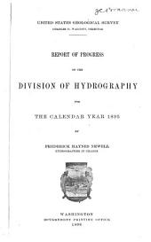 Report of Progress of the Division of Hydrography for the Calendar Year 1895