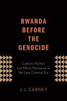 Rwanda Before the Genocide PDF