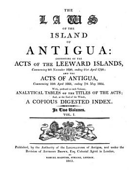 The Laws of the Island of Antigua PDF