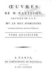 Œuvres de M. Palissot ...: t., Discours sur l'Histoire. Mélanges de Littérature. Lettres de M. de Voltaire à l'Auteur, avec les réponses de ce dernier. Éloge de M. de Voltaire