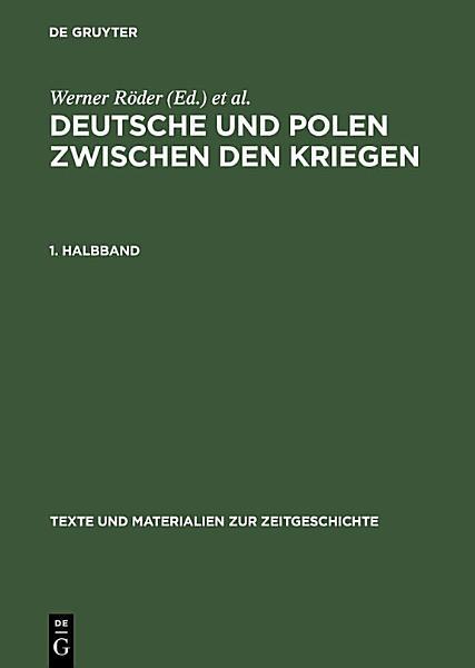 Deutsche Und Polen Zwischen Den Kriegen