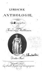 Lyrische Anthologie: Bände 3-4