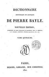 Dictionnaire historique et critique de Pierre Bayle, 15