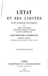 L'état et ses limites: suivi d'essais politiques