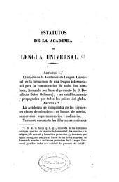 Estatutos de la Academia de Lengua Universal: que está bajo la protección de S.M. la Reina