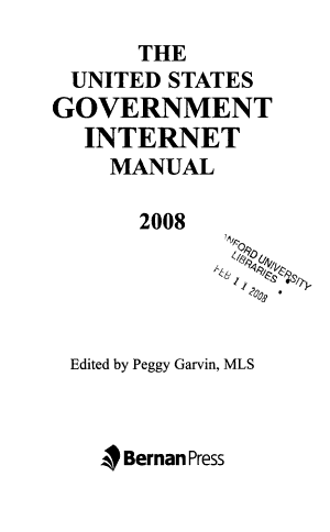 The United States Government Internet Manual PDF