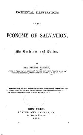 Incidental Illustrations of the Economy of Salvation PDF