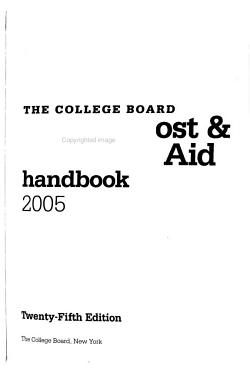 The College Board College Cost   Financial Aid Handbook PDF
