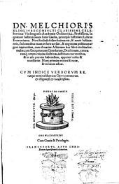 Dn. Melchioris Kling ... In quatuor Institutionum Iuris Ciuilis, principis Iustiniani Libros Enarrationes