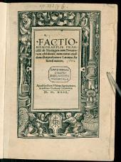 Factio memorabilis Francisci ab Siccingen, cum Trevirorum obsidio, tum exitus eiusdem