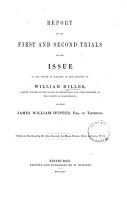 Report of the First and Second Trials of the Issue in the Action of Damages at the Instance of William Miller PDF