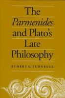 The Parmenides and Plato s Late Philosophy PDF