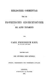 Biblischer Commentar über die prophetischen Geschichtsbücher des Alten Testaments: Band 3