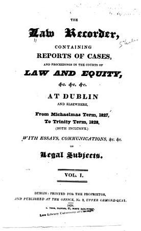 The Law Recorder PDF