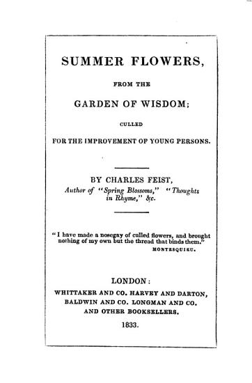 Summer flowers  from the garden of wisdom PDF