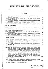 Revista de filozofie PDF