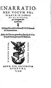 Enarrationes vocum priscarum in libris De re rustica