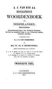 Biographisch woordenboek der Nederlanden, bevattende levensbeschrijvingen van zoodanige personen, die zich op eenigerlei wijze in ons vaderland hebben vermaard gemaakt: Volume 11