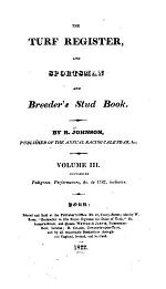 The Turf Register and Sportsman & Breeder's Stud-book