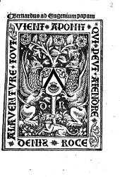 Bernardus ad Eugenium papam