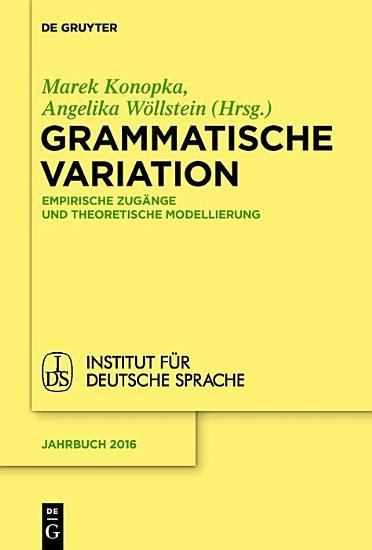Grammatische Variation PDF