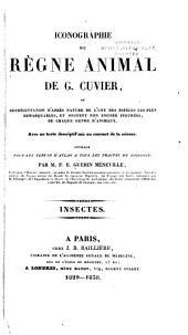 Iconographie du règne animal de G. Cuvier: ou, Représentation d'après nature de l'une des espèces les plus et souvent non encore figurées de chaque genre d'animaux ...