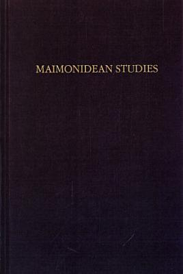 Maimonidean studies  2 1991 1992  PDF