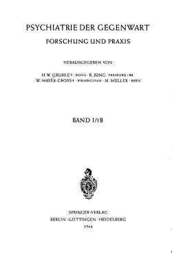 Psychiatrie Der Gegenwart PDF