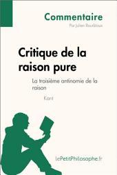 Critique de la raison pure de Kant - La troisième antinomie de la raison (Commentaire): Comprendre la philosophie avec lePetitPhilosophe.fr