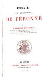 Essais sur l'histoire de Péronne