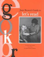 June Brown s Guide to Let s Read PDF