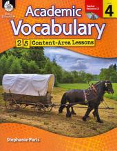 Academic Vocabulary 25 Content-Area Lessons: Level 4