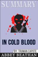 Summary of In Cold Blood by Truman Capote PDF