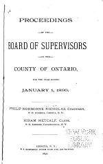 Proceedings of the Board of Supervisors of Ontario County