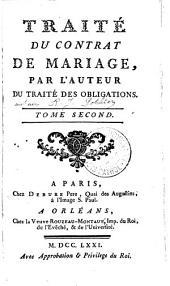 Traité du contrat de mariage: Volume2