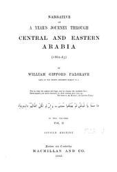 Narrative of a Year's Journey Through Central and Eastern Arabia (1862-63)