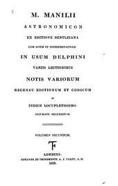 M. Manilii Astronomicon: Volume 2