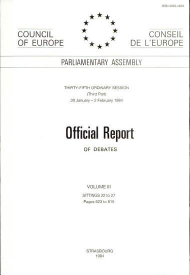 Official Report OF DEBATES VOLUME III SITTINGS 22 to 27 PDF