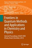 Frontiers in Quantum Methods and Applications in Chemistry and Physics PDF