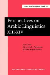 Perspectives on Arabic Linguistics: Papers from the Annual Symposium on Arabic Linguistics. Volume XIII-XIV: Stanford, 1999 and Berkeley, California 2000