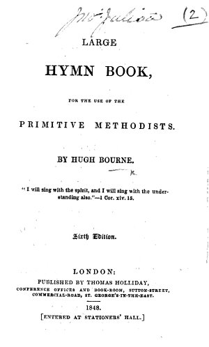 Large Hymn Book  for the use of the Primitive Methodists     Sixth edition
