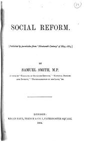 Social reform. Publ. from Nineteenth century: Volume 13