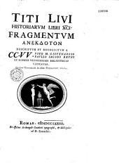 Titi Livii Historiarum Libri XCI. Fragmentum Anecdoton Descriptum Et Recognitum à... Vito M. Giovenazzio et Paullo Jacobo Bruns