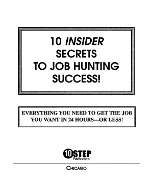10 Insider Secrets to Job Hunting Success