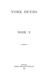 York Deeds: Volume 10